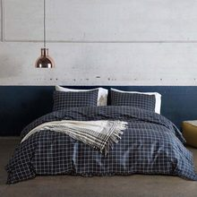 Classic Plaid Bedding Set King Size Polyester Cotton Pillowcase Duvet Cover Set Pastoral Bedclothes Bedroom Decor Home Textile(China)