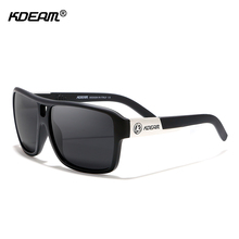 KDEAM Mens Brand Design Sunglasses Womens Outdoor Polarized Large Size Goggles Square UV400 With Case KD520