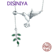 High Quality 925 Sterling Silver Hummingbirds Birds Pendant Necklace For Women Luxury Brand Jewelry Gift CQN217