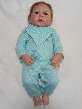 2018 nouvelle arrivée 23 pouces nouveau-nés jouets pour garçons poupées 57 cm reborn pleine silicone corps bébé poupées renaître poppen enfants jouets