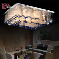 new item 3 layers luxury home lighting modern LED crystal chandeliers with remote control