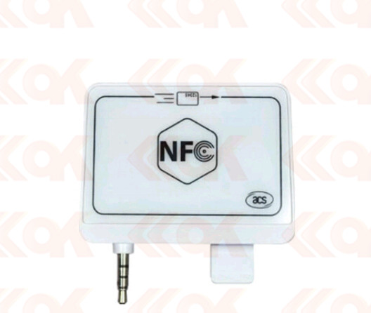 13.56Mhz ACR35 NFC MobileMate Card Reader with 3.5 mm audio jack interface For Android/IOS mobile phone team up 1 sb reader with audio cd