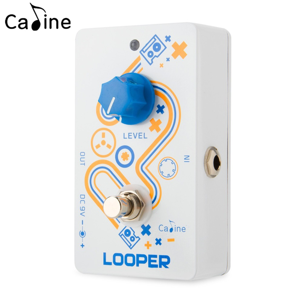 Caline Looper Unlimited Overdubs Guitar Effect Pedal with High Quality Recording and Playback True Bypass kokko guitar looper pedal electric guitar looper effect pedal unlimited overdubs 23 minutes recording true bypass