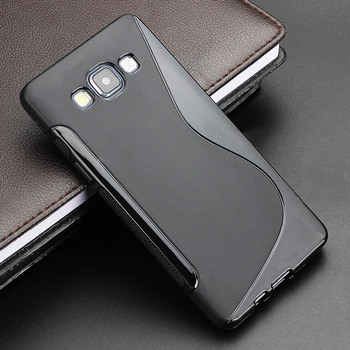 s line gel tpu slim soft anti skiding rubber silicone phone case and back cover
