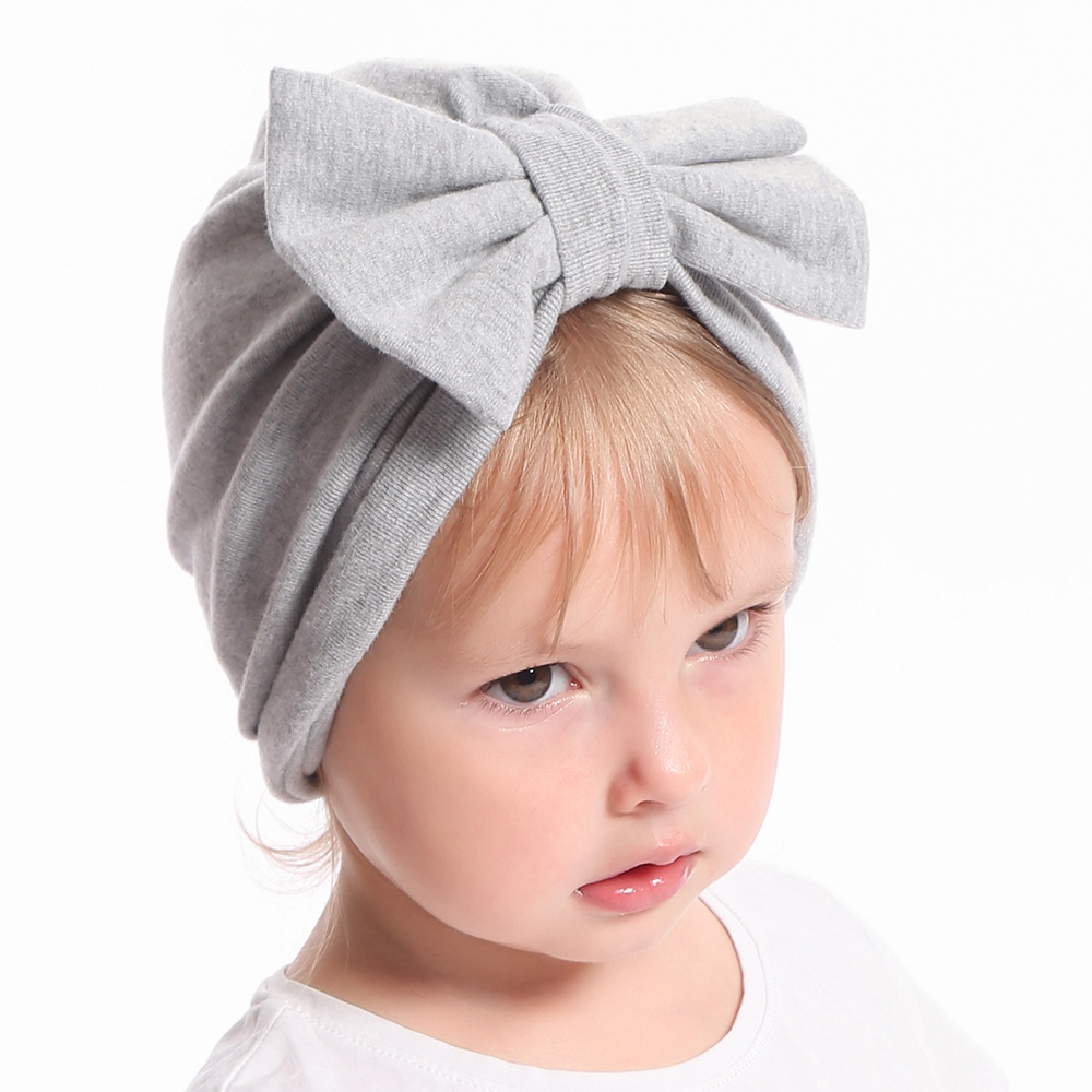 Infant Newborn Cute Bowknot Turban Hats Headband Kids Baby Girls Elastic Hair Bands Wrap Accessories Child Bow HairBand Headwear