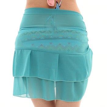 Women Chiffon Sunscreen Shawl Beach Bikini Swimwear Wrap Coverup Skirt Swimsuit Skirt Women Cute Sweet Girls Dance Skirt Юбка 6