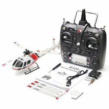 XK K123 6CH Brushless Escala AS350 RC Helicopter RTF Modo 2