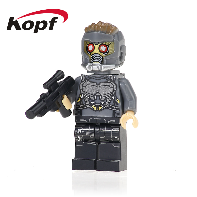 XH 603 Super Heroes Guardians of the Galaxy Star-Lord Chessman Rocket Racoon Building Blocks Bricks Action Children Toys Gift