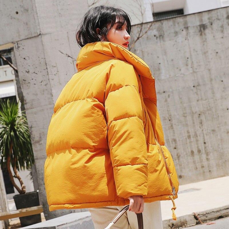 Autumn Winter Warm Padded Casual Loose Overcoat Ladies Jacket Women Coat Female Thicken Winter Jacket Women   Parkas   LM077