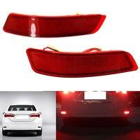 2PCS Red Rear Bumper Lights Fog Lamp Lights For Toyota Corolla 2014 2015 2016