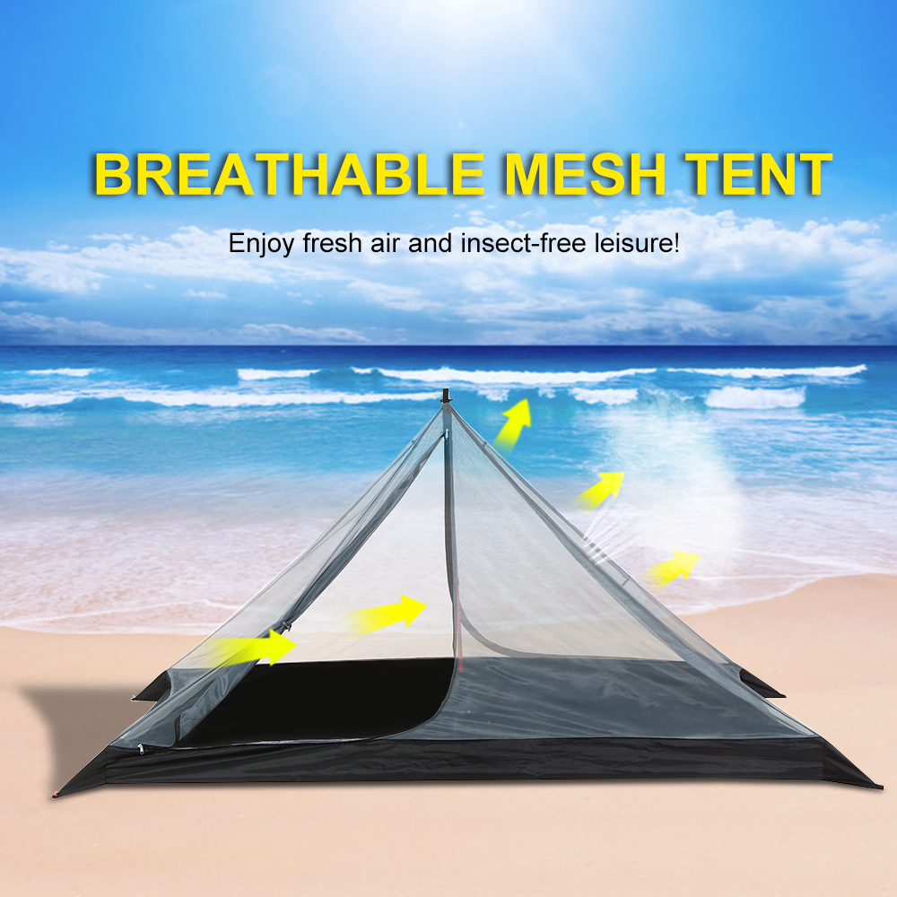 Double Layer Water Resistant Backpacking Tent Outdoor Camping Tents Fishing Hunting Beach Travel Tent