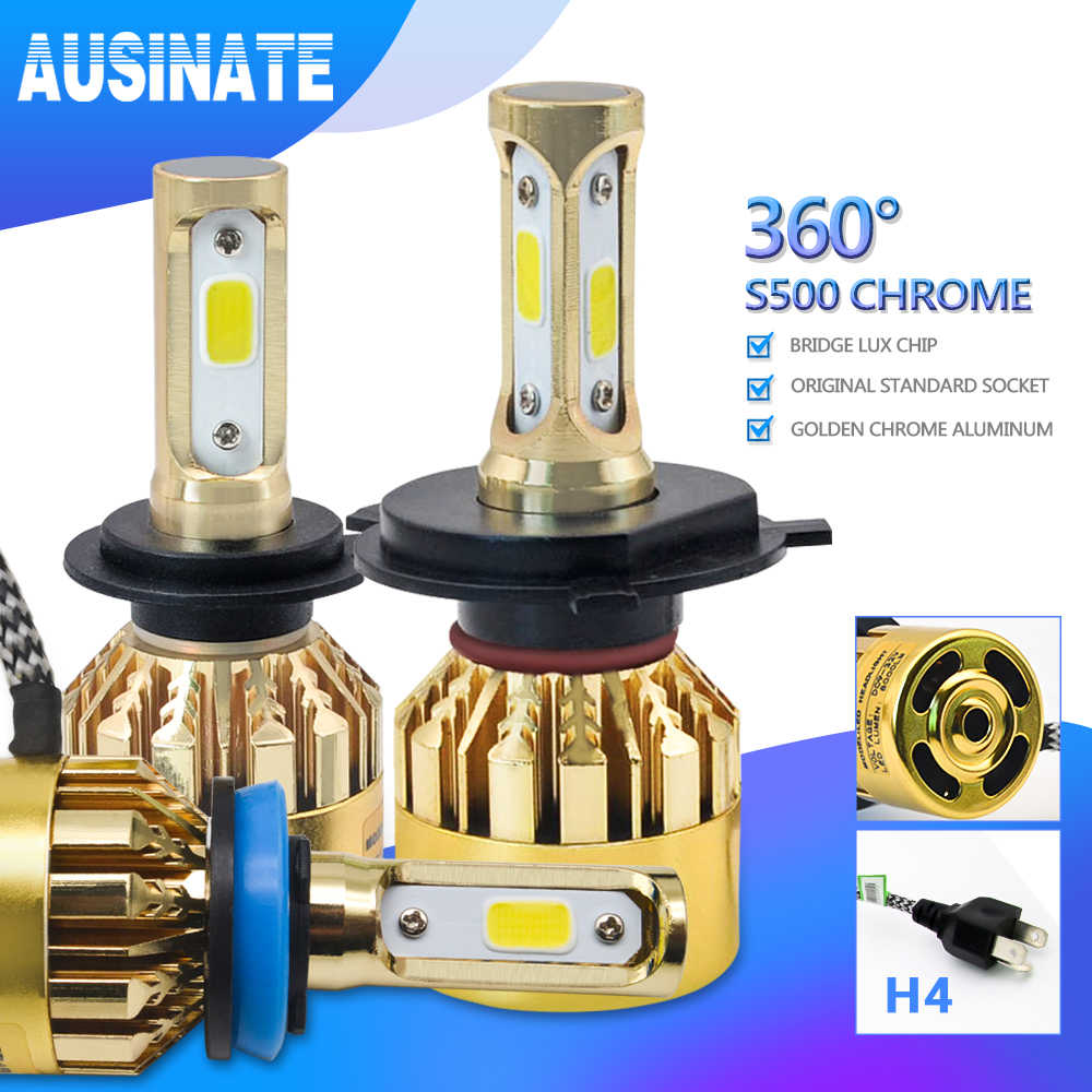 One Pair H3 LED H7 H1 H4 H11 H8 H9 H13 9005 9006 9007 881 Car Led Headlight Kit 72W 8000LM Auto Headlamp Fog Light Bulbs 6500k