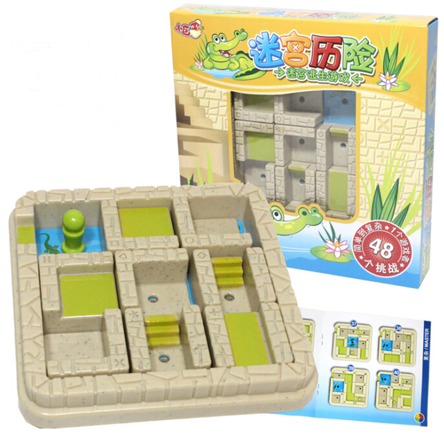 Классический логический разум лабиринтное игры игрушки IQ логические лабиринт головоломки 48 Challeng es подарок для детей взрослых
