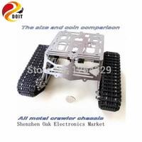 Официальный DOIT Сталь Структура гусеничный робот Chassiss/цистерны шасси для Remoto Управление Car/DIY игрушка