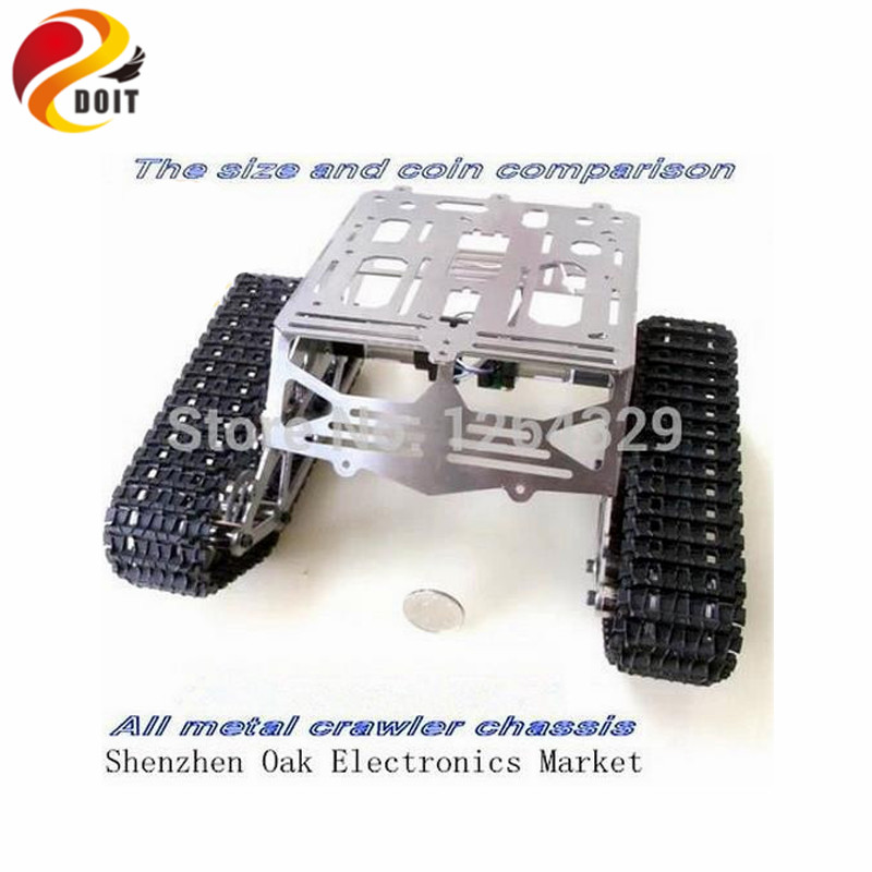 Official DOIT Steel Structure Crawler Robot Chassiss/Tank Car Chassis for Remoto Control Car/DIY Toy official doit tank car chassis crawler intelligent diy robot electronic toy tracked car for robot development