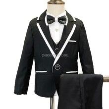 Flower Boys Tuxedo Suit for Wedding Kids Birthday Party Dress Blazer
