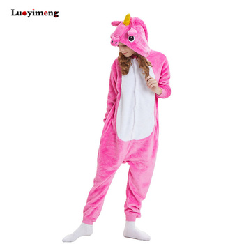 Pajamas For Girls Children Animal Winter Warm Pyjamas Kids Onesie Panda Unicornion Sleepwear Boys Teenage Pajama Sets Licorne pajamas