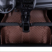 lsrtw2017 leather car floor mat rug carpet for honda fit jazz 2002-2018 2003 2004 2005 2006 2007 2008 2009 2010 interior styling