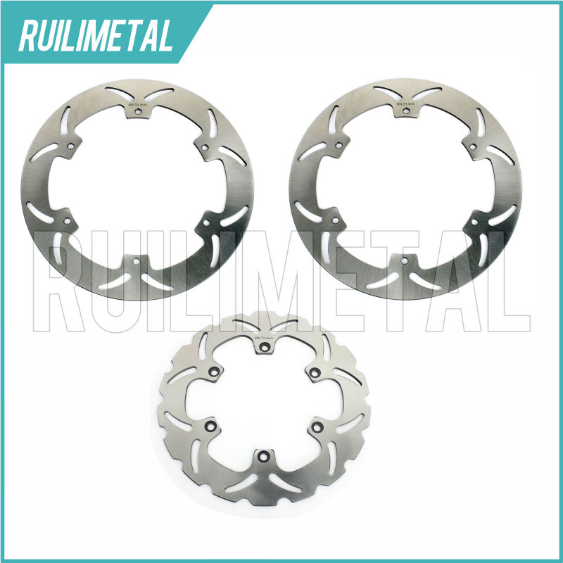 3pcs Front Rear Brake Discs Rotors for YAMAHA XJ900 XJ 900 S DIVERSION 94 95 96 97 98 99 00 01 02 03 2000 2001 2002 2003 New тормозные колодки подходят yamaha xj 900 s diversion 95 03 передняя 1 pair 2 колодки