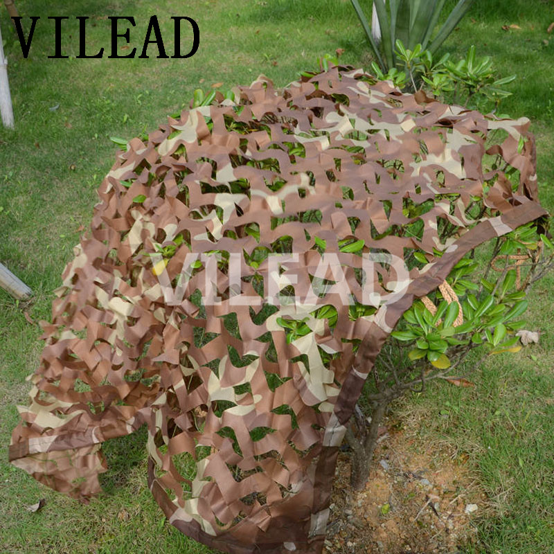 VILEAD 4M x 10M (13FT x 33FT) Desert Digital Camo Netting Military Army Camouflage Net Shelter for Hunting Camping Car Covers vilead 3m x 8m 10ft x 26ft digital military camouflage net woodland army camo netting sun shelter for hunting camping tent