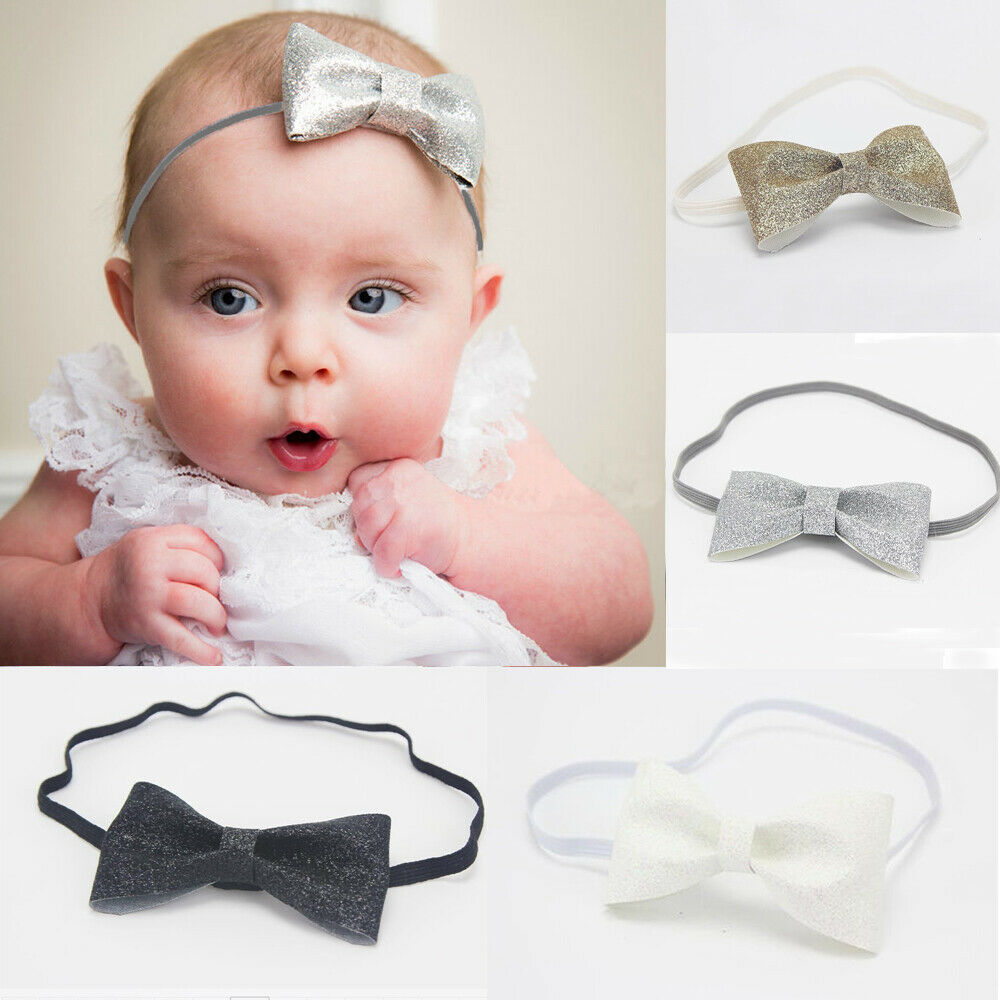 2019 Brand New Toddler Infant Newborn Baby Girl Headband Princess Cute Sequin Bow Knot Floral Headbands Black White Hair Accessories Aliexpress