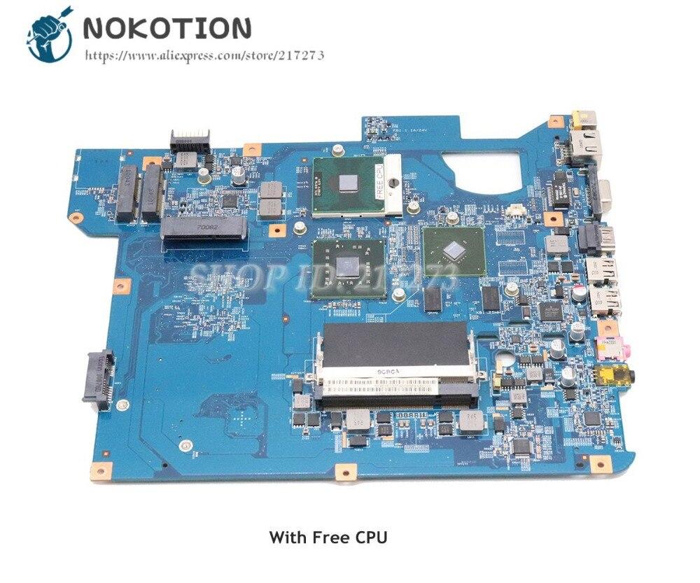 NOKOTION For Packard Bell For Gateway NV58 TJ65 Laptop Motherboard GT210M DDR2 MBBFF01001 MB.BFF01.001 SJV50 48.4BU04.01M