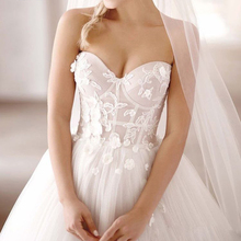 CLOUDS IMPRESSION Sexy Romantic Beach Wedding Dress