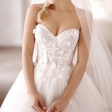 CLOUDS IMPRESSION Sexy Romantic Beach Wedding Dress