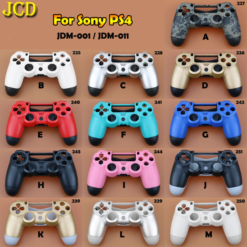 JCD 1PCS Plastic Hard Shell For Sony Playstation 4 For <font><b>PS4</b></font> JDM-010 JDM-001 <font><b>Controller</b></font> Housing Cover Protective Shell Skin <font><b>Case</b></font> image