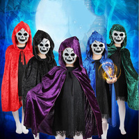 New Halloween Costume Children Cosplay Cloak Witch Wizard School Christmas Performance Parties Products Supplies Wholesale