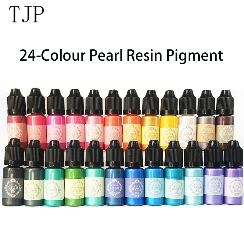 24 Colours 10ml Liquid Pearl Resin Pigment Dye UV Resin Epoxy Resin DIY Making Crafts Jewelry Accessories|jewelry accessories|crafting jewelry accessoriesjewelry making accessories - AliExpress