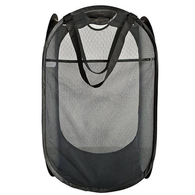 Multifunctional Foldable Steel Wire Laundry Basket Hampers Basket Storage Dirty Clothing Bags Toy Storage Bag