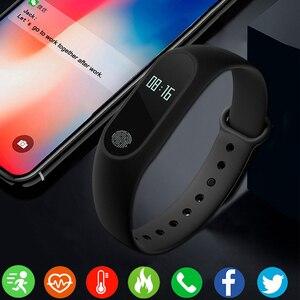 Image 4 - 스포츠 팔찌 스마트 시계 남성 여성 안드로이드에 대한 smartwatch ios 피트니스 트래커 전자 스마트 시계 밴드 smartband smartwach