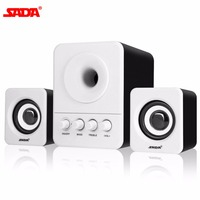 SADA Wired Combination Speaker Mini Portable Speaker For Laptop Desktop Computer Mobile Phone Column Bass Cannon