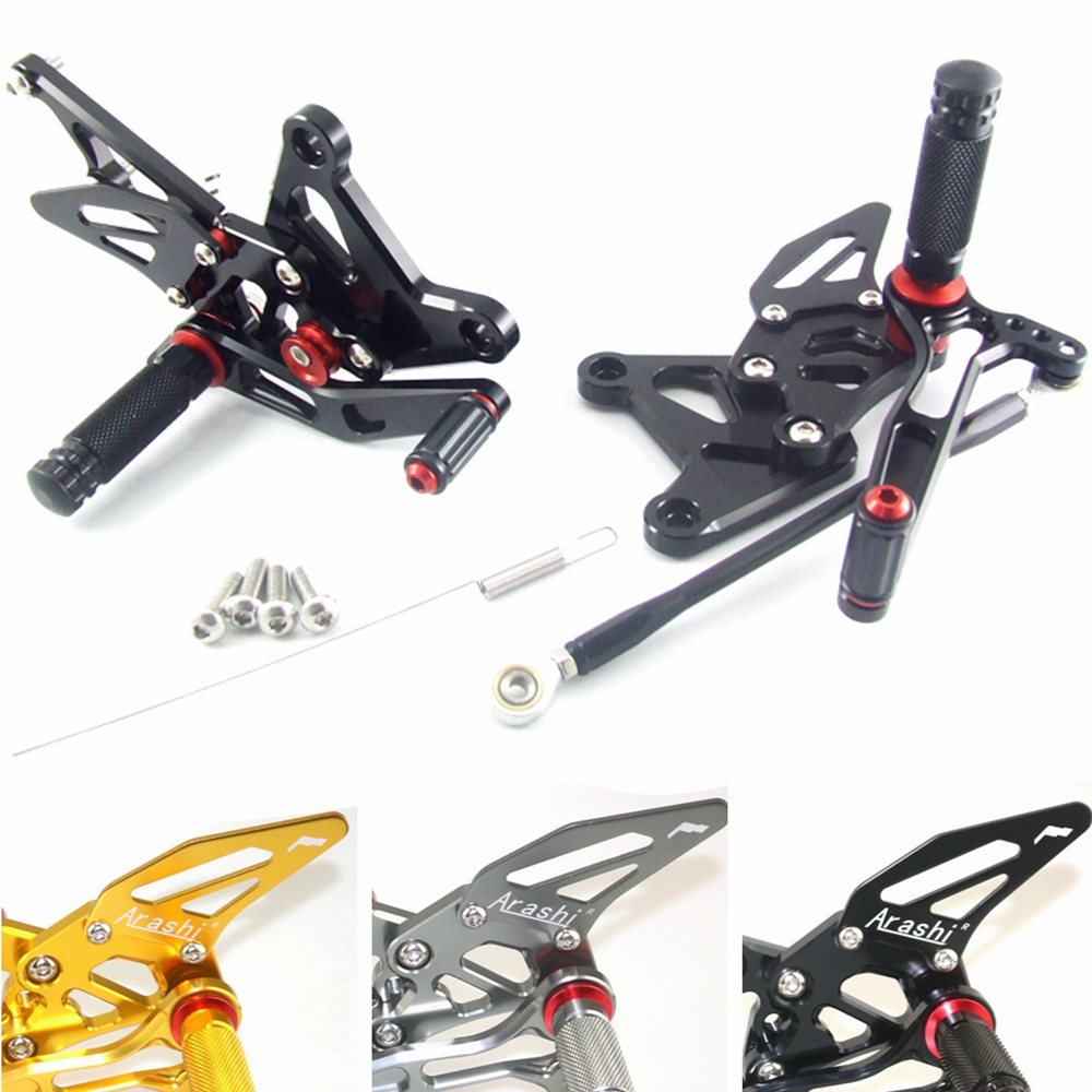 CNC Adjustable Rear Set Rearsets  For KAWASAKI ZX636 ZX6R 2005 2006 Foot Rest