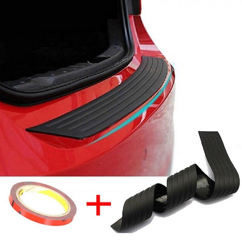 Universal Car Choques Traseiro Sill/Protetor da Placa de Cobertura De Borracha Guarnição Guarda Pad para todos os modelos Infiniti