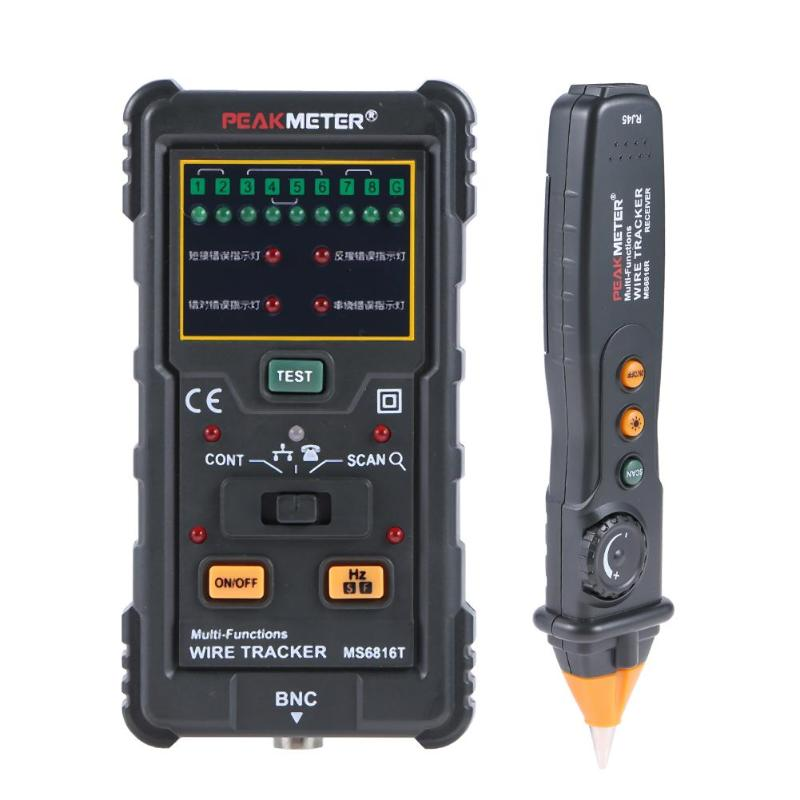 MS6816 Pro RJ45 RJ11 Network Cable Wire Tracker Telephone Line Phone Cable Toner Tester Network Wire Tracker Tester