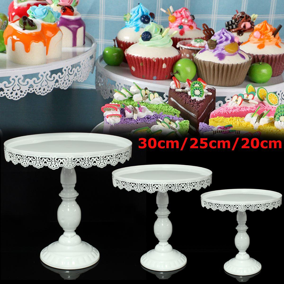 White Round Cake Cupcake Stand Modern Dessert Christmas