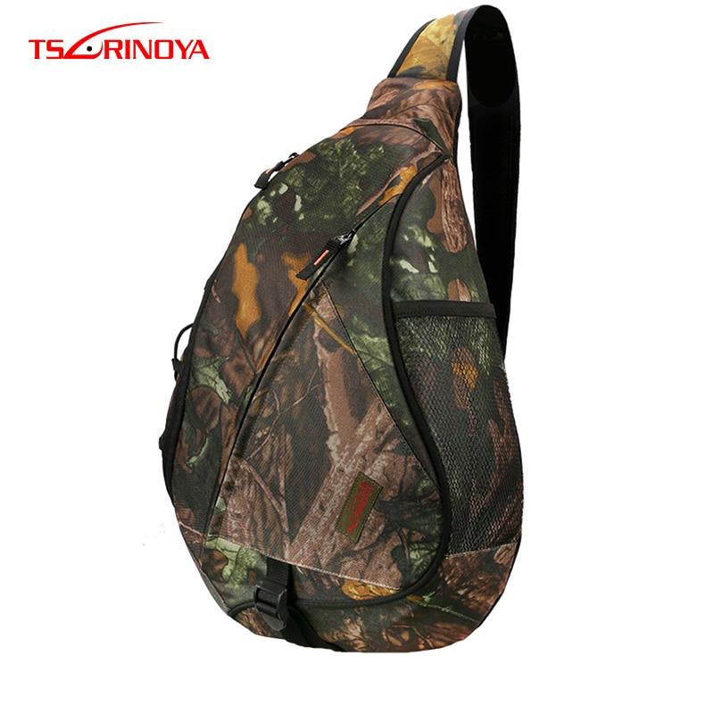 TSURINOYA Multifunctional Fishing Bag Waterproof Shoulder Fishing Bag Large Capacity Bolsa Back Breathable Fishing Tackle Bags-in Fishing Bags from Sports & Entertainment