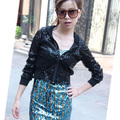 Women Glitter Sequin Jackets  HipHop Outwear with Hooded Jazz Dance Costumes Stage Singer Suit