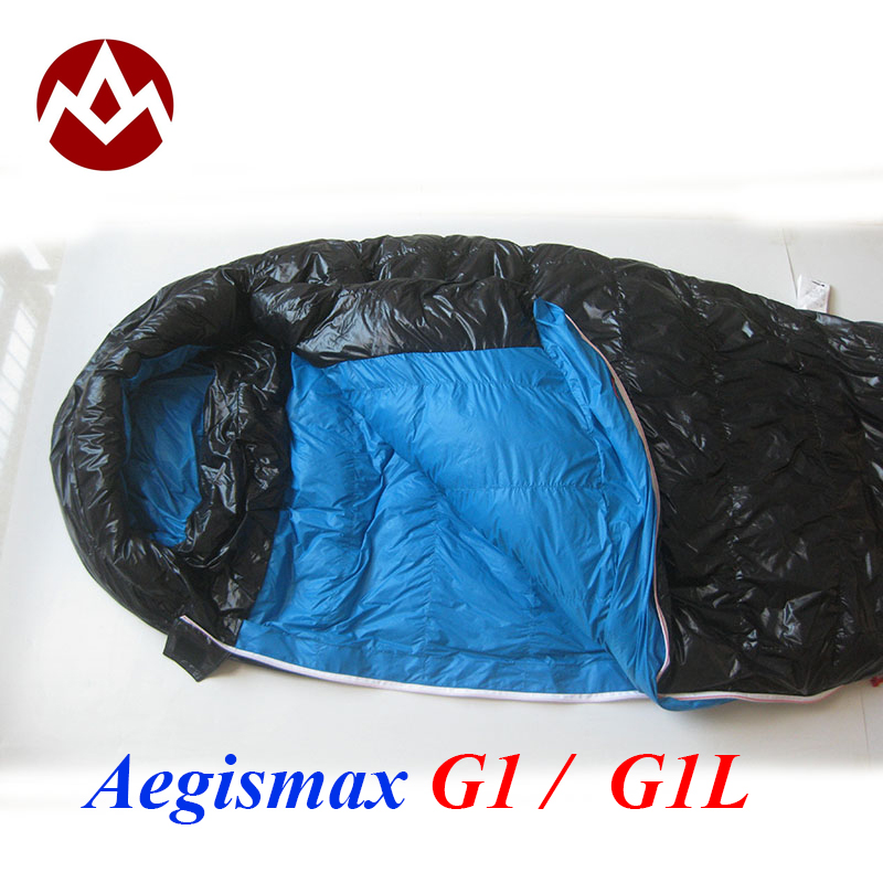 Free shipping G1 G1 Long Aegismax Professional Ultralight outdoor white goose Down winter mummy type sleeping