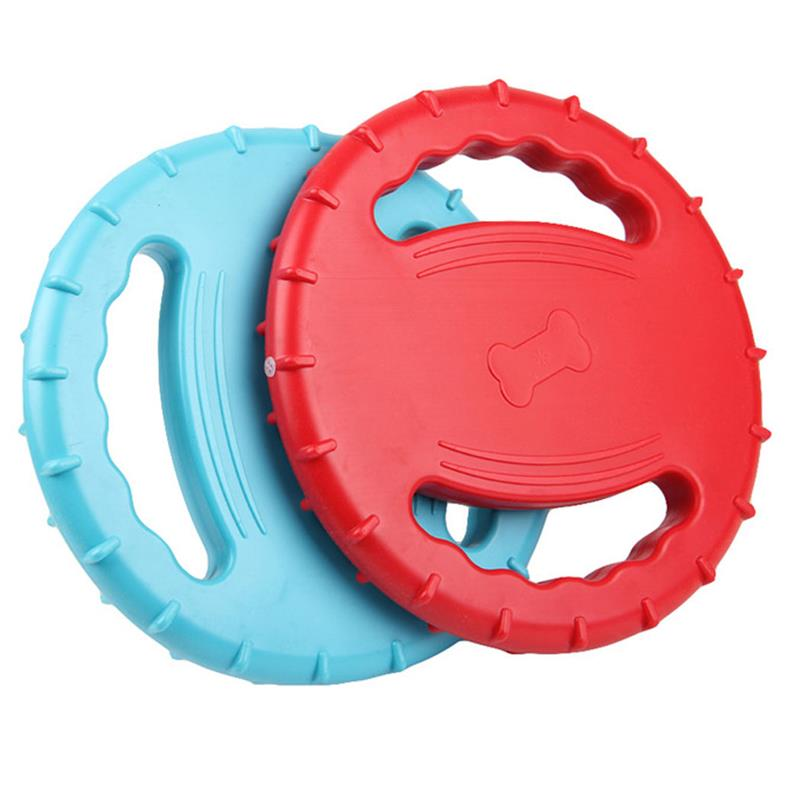 For Dog Train Outdoor Eco-Friendly Silicone Rubber Dog Fris Bee Pet Tooth Resistant Fetch Training Flying Disc Playing Toy