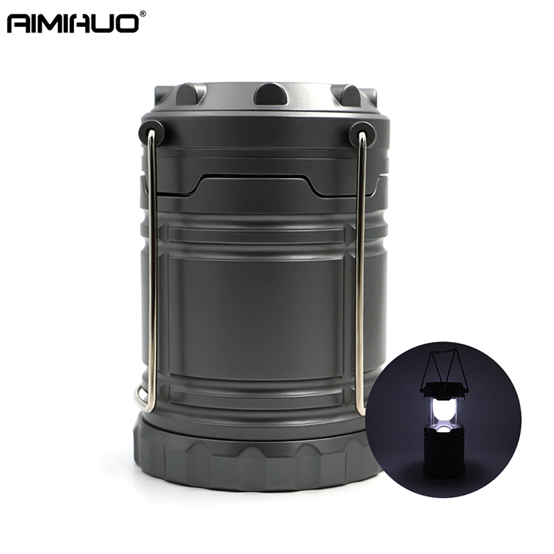 AIMIHUO Outdoor Camping Light Telescopic Waterproof LED Lantern Tent Camping Lamp LED Portable Lamp Lanterns For AA Batteries
