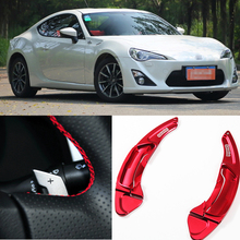 tommia For Toyota 86 2012-2016 2pcs Steering Wheel Aluminum Shift Paddle Shifter Extension Car-styling aluminum steering wheel shift paddle shifter extended type for kia new k5 sorento 2016 savanini brand hot sale free shipping