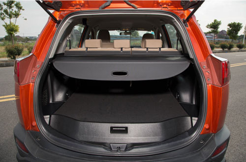BBQ@FUKA  Rear Trunk Shade Cargo Cover Fit For 2013-2015 Toyota RAV4 Black car rear trunk security shield cargo cover for lexus rx270 rx350 rx450h 2008 09 10 11 12 2013 2014 2015 high qualit accessories