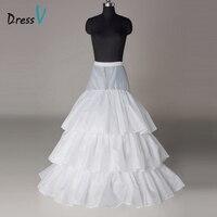 Dressv Trắng Tòa Train Ba Lớp Wedding Petticoat Ba Thép Loops Wedding Phụ Kiện Petticoat Giá Rẻ Bridal Lót