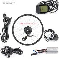 KUNRAY 36V 48V 500W Electric Bicycle Hub Motor Bicicleta E Bike Conversion Kit For 26inch 28inch 700C Rear Wheel Motor 35km/h