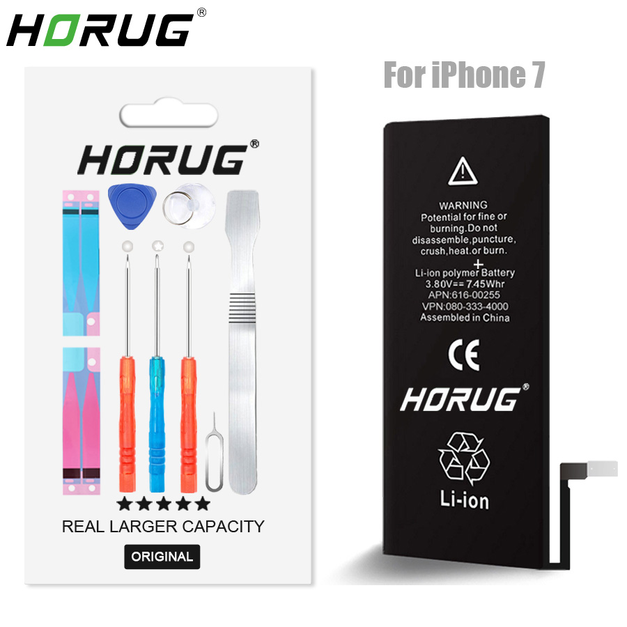2019 NEW HORUG 100% Original Mobile Phone Battery For iPhone 7 Battery Original Capacity Sticker Replacement Phone Batteries