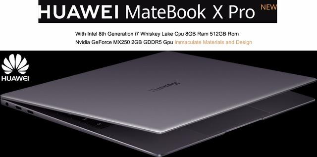 2020 Best Laptop HUAWEI MateBook X Pro 13.9 Inch Notebook PC With 10th Gen Intel i7-10510U Processor 16GB Ram 1TB SSD Type-C
