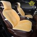 Cubierta de asiento de coche fijó faux fur lindo coche cubre accesorios interiores cojín styling invierno nueva felpa cojín del asiento cubre i014